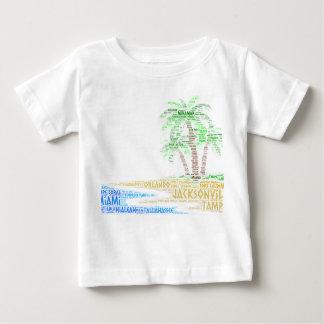 Camiseta De Bebé Isla tropical ilustrada con las ciudades de la