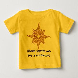 Camiseta De Bebé ¡Jesús me quiere para un rayo de sol!