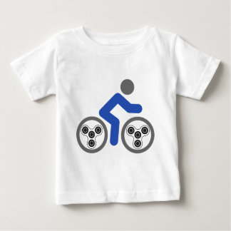 Camiseta De Bebé Jinete del hilandero de la persona agitada