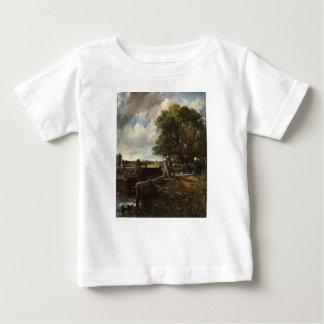 Camiseta De Bebé John Constable - la cerradura - paisaje del campo