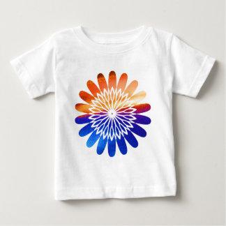 Camiseta De Bebé Joya gráfica redonda de la flor de Chakra