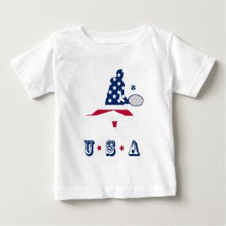 Camiseta De Bebé Jugador del americano del tenis de los E.E.U.U.