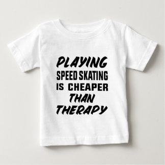 Camiseta De Bebé Jugar patinaje de velocidad es más barato que