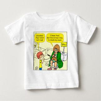 Camiseta De Bebé La abuela 903 está comprobando el dibujo animado