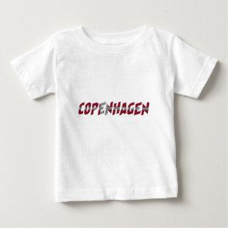 Camiseta De Bebé La bandera danesa de Copenhague Dinamarca colorea