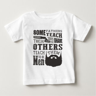 Camiseta De Bebé La barba, algún padre enseña para afeitar otros
