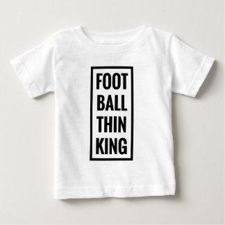 Camiseta De Bebé ¿la bola del pie piensa el rey o el pensamiento