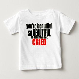 Camiseta De Bebé la cartera hermosa lloró las mujeres costosas