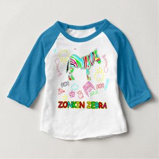 Camiseta De Bebé La cebra de Zonkin va salvaje