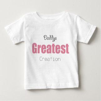 Camiseta De Bebé La creación más grande de Daddys