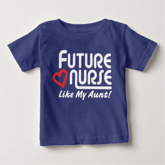 Camiseta De Bebé La enfermera futura tiene gusto de mi tía