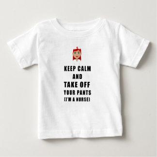 Camiseta De Bebé la enfermera, saca sus pantalones