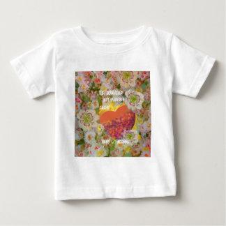 Camiseta De Bebé La felicidad es llena de cosas desconocidas