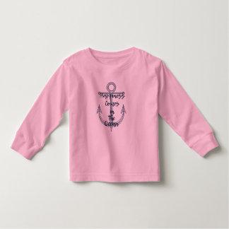 Camiseta De Bebé La felicidad viene en el océano