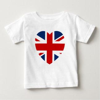 Camiseta De Bebé La forma del corazón de la bandera de Union Jack