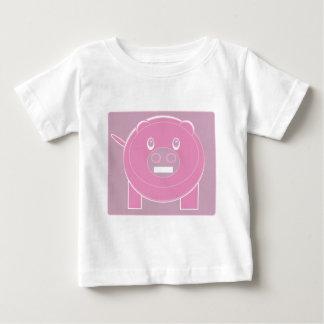 Camiseta De Bebé La forma hizo el cerdo