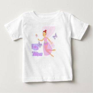 Camiseta De Bebé La hada rosada bonita desea el equipo de la niña