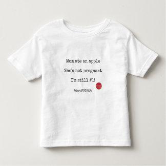 Camiseta De Bebé La mamá comió Apple, ella no está embarazada