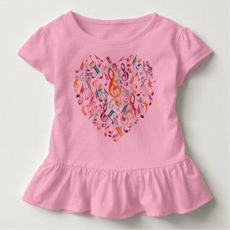 Camiseta De Bebé La música observa el corazón