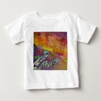 Camiseta De Bebé La música tiene conexión extraña a la naturaleza