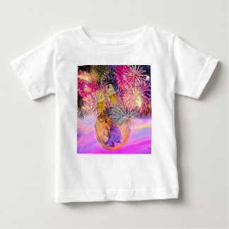 Camiseta De Bebé La noche brilla con los fuegos artificiales