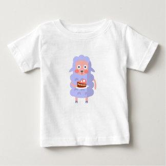 Camiseta De Bebé La oveja con el fiesta atribuye S enrrollado