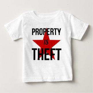 Camiseta De Bebé La propiedad es hurto - comunista socialista del