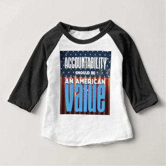 Camiseta De Bebé La responsabilidad debe ser un valor americano,