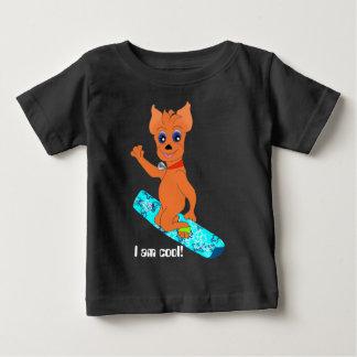 Camiseta De Bebé La ropa del muchacho fresco - snowboard feliz