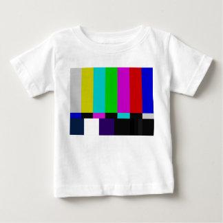 Camiseta De Bebé La TV barra la prueba del color