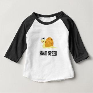 Camiseta De Bebé la velocidad del caracol ayuna