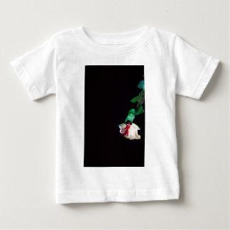 Camiseta De Bebé Lado rojo sangre blanco color de rosa
