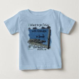 Camiseta De Bebé Lago-personalizar de la roca de la tabla de la