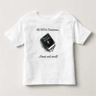 Camiseta De Bebé Las criaturas, la biblia y las patas de todo el