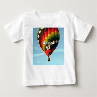 Camiseta De Bebé Las mujeres vuelan: globo del aire caliente