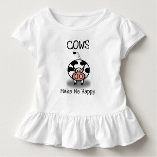Camiseta De Bebé Las vacas me hacen feliz