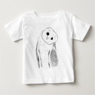 Camiseta De Bebé Lechuza común dibujada mano única