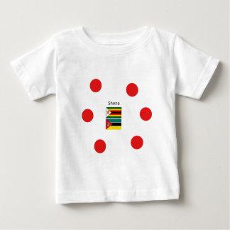 Camiseta De Bebé Lengua de Shona y banderas de Zimbabwe y de