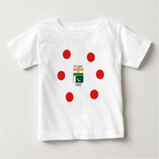 Camiseta De Bebé Lengua del Punjabi con las banderas de la India y