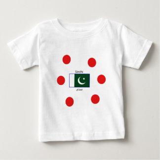 Camiseta De Bebé Lengua del sindhi y diseño de la bandera de
