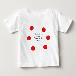 Camiseta De Bebé Lengua del suajili (Kenia, Tanzania, y el Congo)