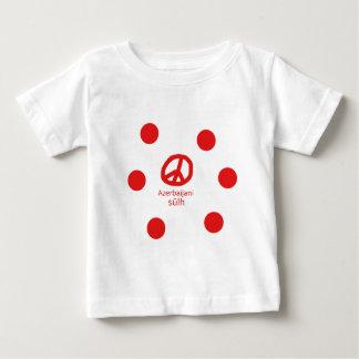 Camiseta De Bebé Lengua y diseño azerbaiyanos del símbolo de paz