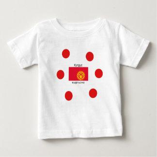 Camiseta De Bebé Lengua y diseño kirguizios de la bandera de