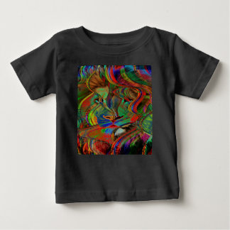 Camiseta De Bebé León abstracto