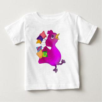 Camiseta De Bebé Lila ama el hacer compras por los Happy Juul