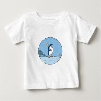 Camiseta De Bebé Línea del círculo de Antartica de la pala del