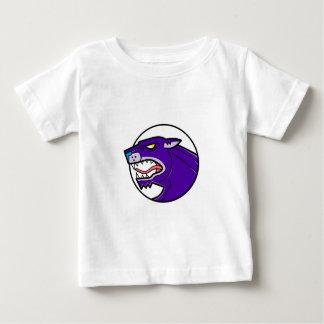 Camiseta De Bebé Línea el gruñir de la pantera negra mono