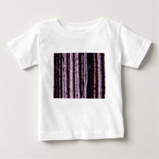 Camiseta De Bebé líneas de madera verticales