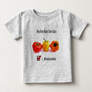 Camiseta De Bebé Lista de control (filipina) sana del bebé