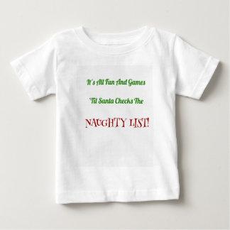Camiseta De Bebé Lista traviesa del navidad chistoso decorativa